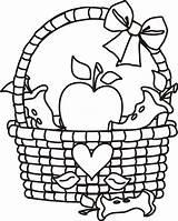Basket Coloring Pages Apple Clip Clipart Picnic Fruit Cliparts Empty Template Outline Preschoolers Clipartmag Cartoon Popular Clipartion Coloringhome sketch template
