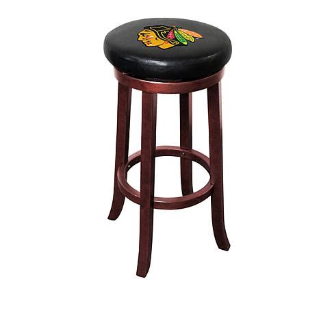 Officially Licensed Nhl Wooden Bar Stool Chicago