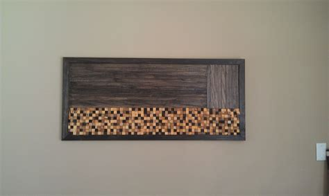 Pictures For Wall Decor by Handmade Wood Mosaic Wall By Built Concrete