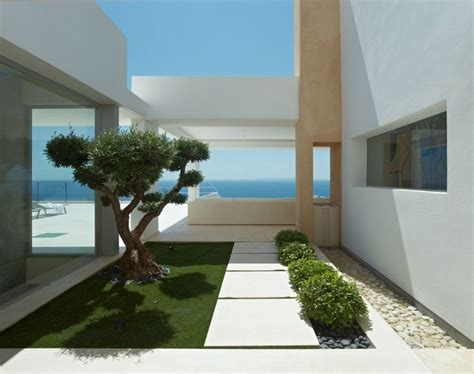 Modern Villa Brings Elegance To Ibiza by Modern Villa Brings Elegance To Ibiza Outside