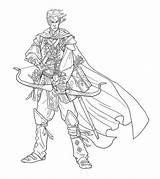Bard Elf Drawing Illustrations Character Am Nelson Jim sketch template