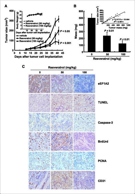 resveratrol suppresses growth  human ovarian cancer