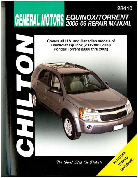 car repair manuals download 2007 pontiac torrent parental controls chilton chevrolet equinox and pontiac torrent 2005 2009 repair manual