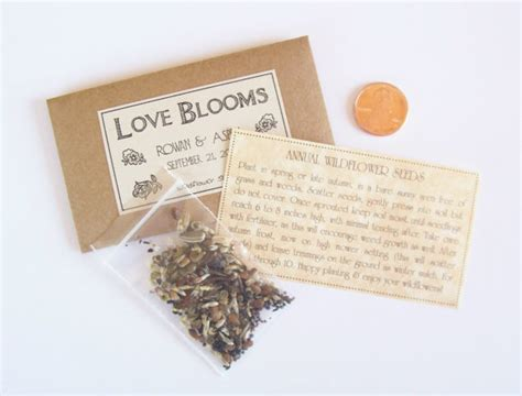 sample wedding favor seeds flower  fairylandbazaar