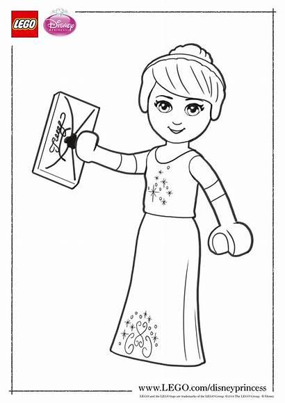 Lego Coloring Princess Disney Pages Cinderella Elves