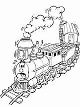 Coloring Pages Steam Engine Train Freight Printable Getcolorings sketch template