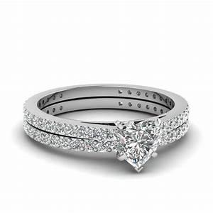 kay diamond bridal set 7 8 ct tw heart shaped 14k white With heart shaped diamond wedding ring sets