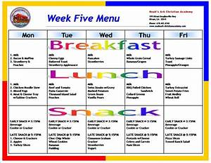 daycare menus daycare monthly menu template october With cacfp menu template