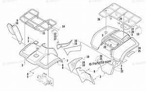Arctic Cat Atv 2003 Oem Parts Diagram For Body Panel Assembly