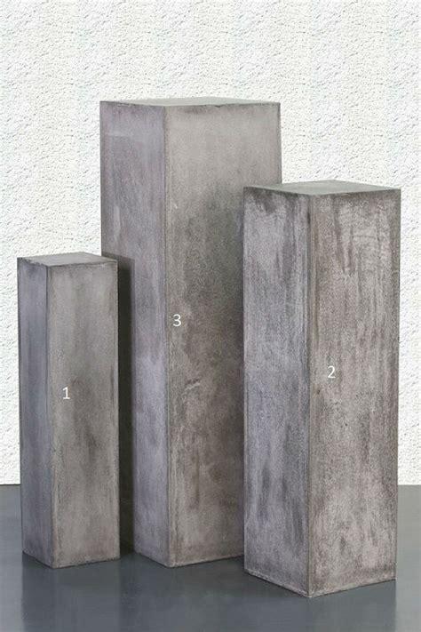 colonne carr 233 gris boutique www creatif bois deco