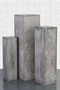 colonne carre gris pierre boutique wwwcreatif bois decocom With colonne de bois exterieur
