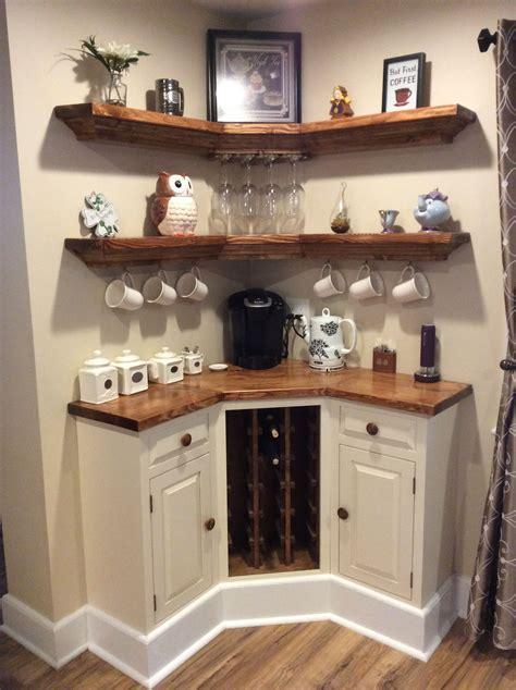 Built in Corner coffee / wine bar   Dream Home   Pinterest