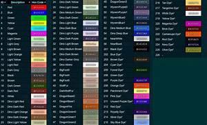 Dye Chart Ark Ark Guide The Pack Gaming
