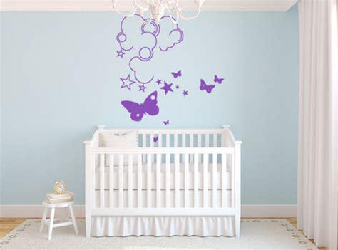 dessin mural chambre fille un petit coin de ciel dans la chambre de bébé déco et