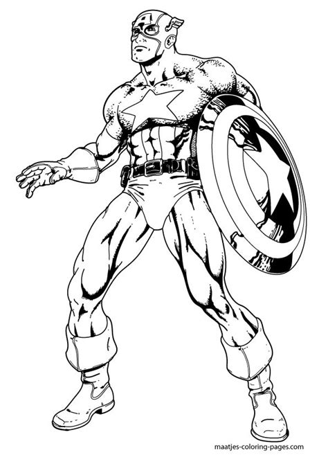 captain america coloring pages tegninger pinterest