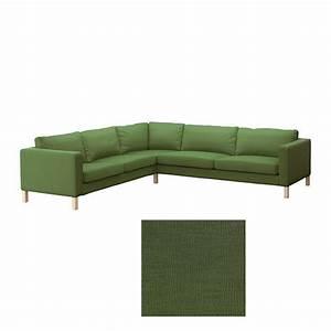 ikea karlstad corner sofa slipcover cover sivik green mid With karlstad sectional sofa covers