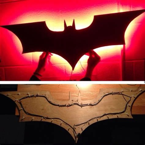 lighted batman wall diy arts and crafts batman room batman bedroom room