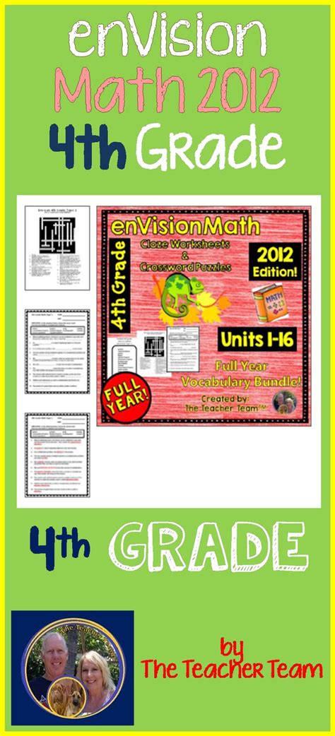 17 Best Images About Envision Math Pearson On Pinterest  Sixth Grade, Math Vocabulary And 5th
