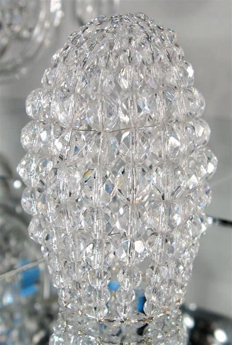 light bulb covers small faceted glass beaded light bulb cover chandelier shade