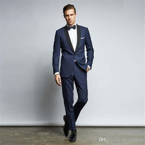 Buy navy blue suit from the comforts of your home. Custom Made Cheap Navy Blue Wedding Suits For Men With ...