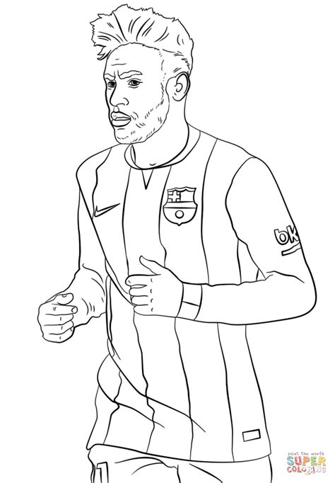 Neymar coloring page | Free Printable Coloring Pages