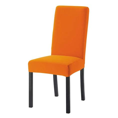 chaises orange modèle chaise de cuisine orange