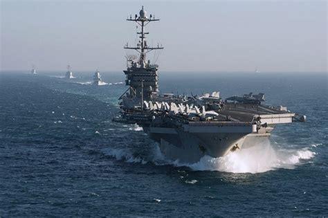 kapal induk  uss truman siap unjuk kekuatan  rusia