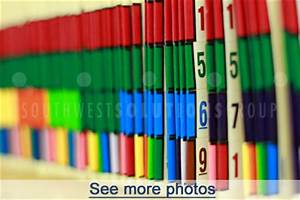 How color coded filing works for Medical chart letter stickers