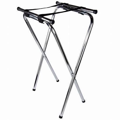 Tray Stand Folding Metal Table Chrome Stands