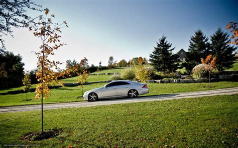 Download Wallpaper Mercedes, Nature, Landscape, Car Free