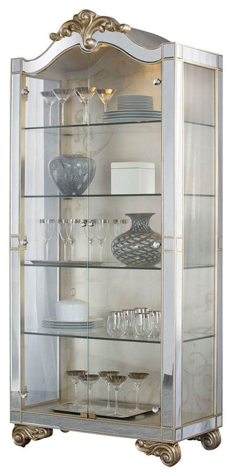 Silver China Cabinet by American Drew Mcclintock Curio Cabinet In Silver