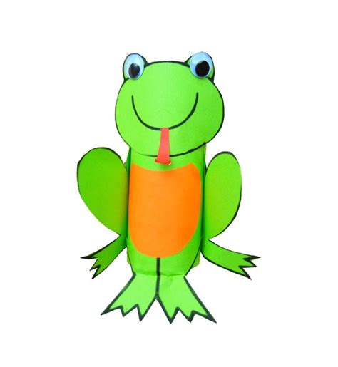 bricolage enfant grenouille avec rouleau de papier