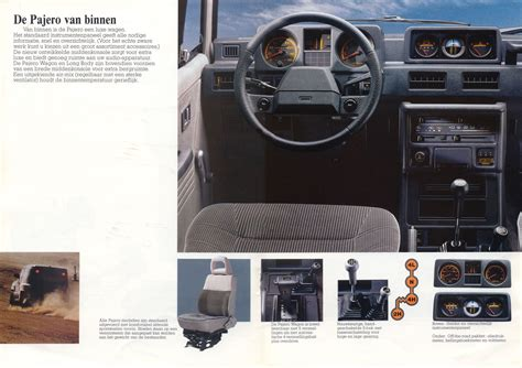old car manuals online 1986 mitsubishi pajero interior lighting 1986 mitsubishi pajero brochure