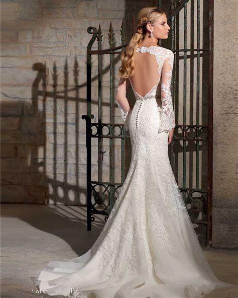 backless wedding dress lace vestido de noiva sereia backless wedding dresses