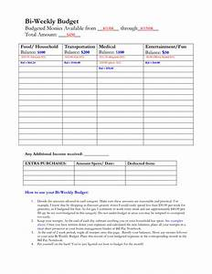 bi weekly paycheck budget template driverlayer search engine With 2 week budget template