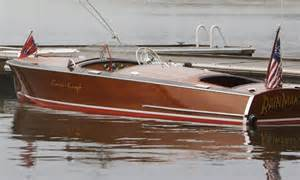 Classic Chris Craft Wooden Runabout Boat