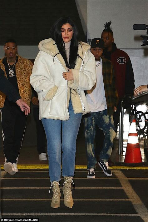 Kylie Jenner and Tyga attend Kanye's NYFW show   Daily ...