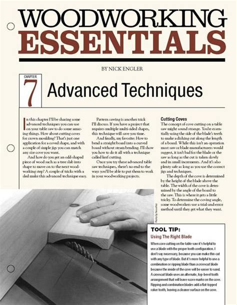 woodworking essentials chapter  advanced table