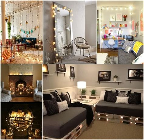 Ideas For Decorating Your Living Room by Decorate Your Living Room With String Lights Fav