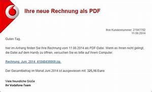Vodafone Handy Rechnung : trojaner warnung vodafone e mail mit ihre neue rechnung ~ Themetempest.com Abrechnung