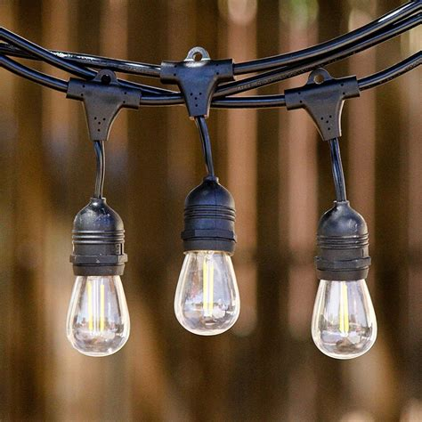 Led Outdoor String Lights by 15m Waterproof E26 E27 Led String Lights With 15 Fliament