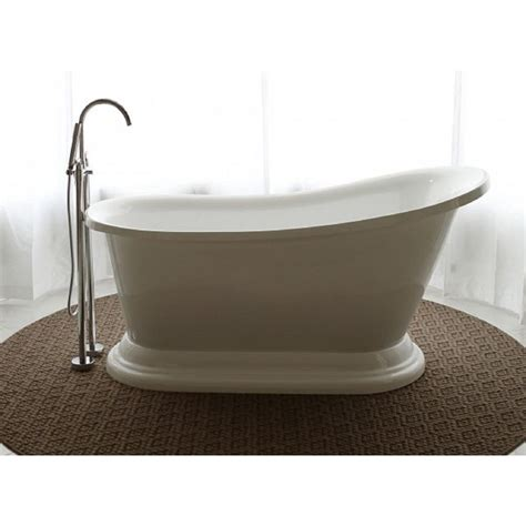 Freestand Bathtub by Oasis 5 58 Ft Acrylic Flat Bottom Free Standing Non