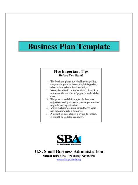 sba business plan   templates   word excel