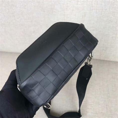 copy louis vuitton  avenue sling bag  men damier lnfini cowhide leather
