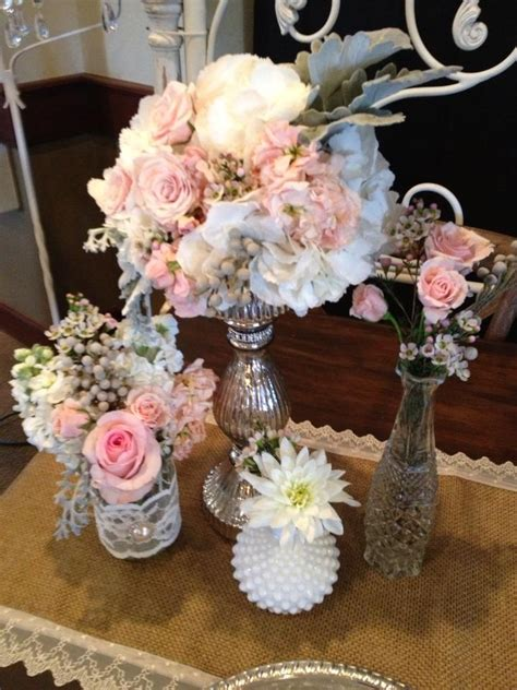 shabby chic centerpiece vintage shabby chic centerpiece centerpieces tablescapes pinterest
