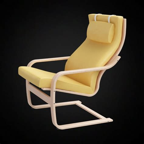 ikea poang chair  furniture  models