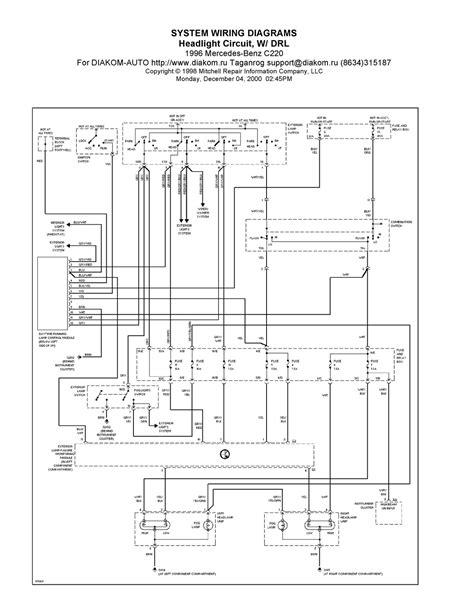 V Manual: 1996 Mercedes-Benz C220 System Wiring Diagrams