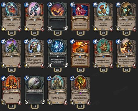 warrior decks hearthstone tgt deck guerrier m 233 ca tgt hearthstone heroes of warcraft