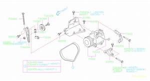 2009 Subaru Legacy A  C Compressor Bracket