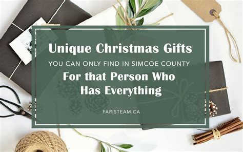 unique christmas gifts you can only find in simcoe county